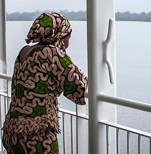 Desde el barco a Casamance